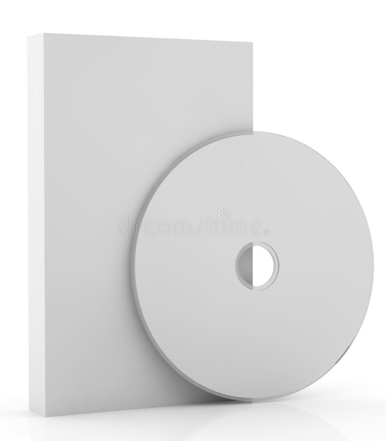 pudełkowatych pustych miejsc 5 cd ilustracja wektor