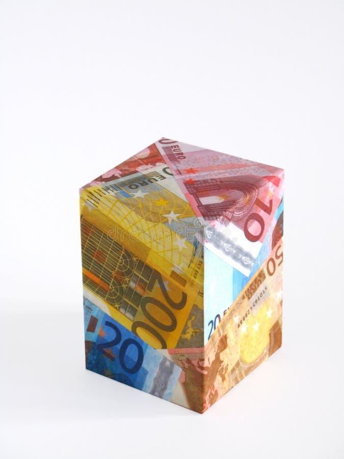 Pudełkowate Euro Notatki Zdjęcie Stock