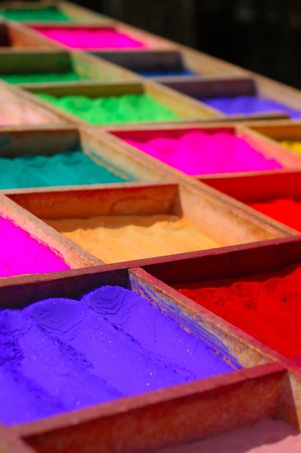 Puder-Färbungen lizenzfreie stockfotografie