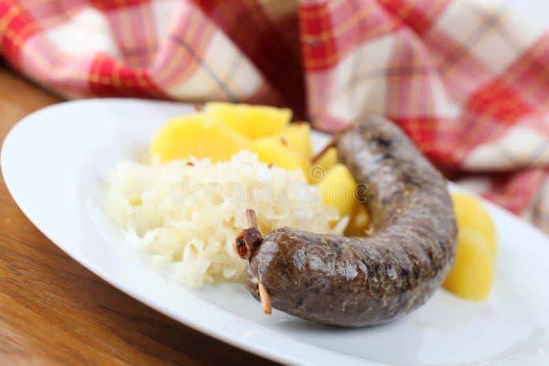 Pudim branco checo tradicional fotos de stock