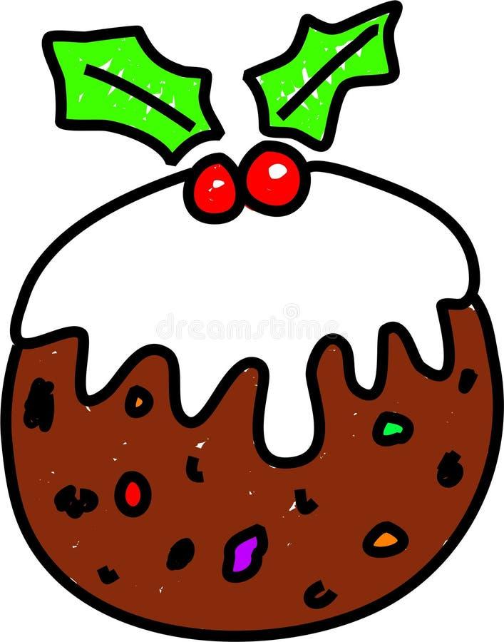 Pudim do Natal ilustração do vetor