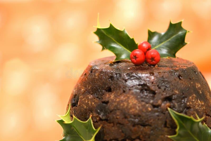Pudim do Natal imagens de stock