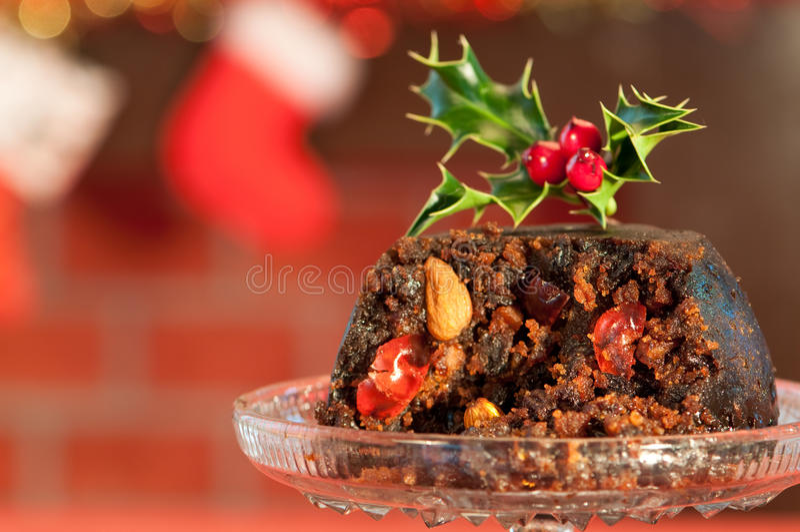 Pudim luxuoso do Natal imagem de stock royalty free