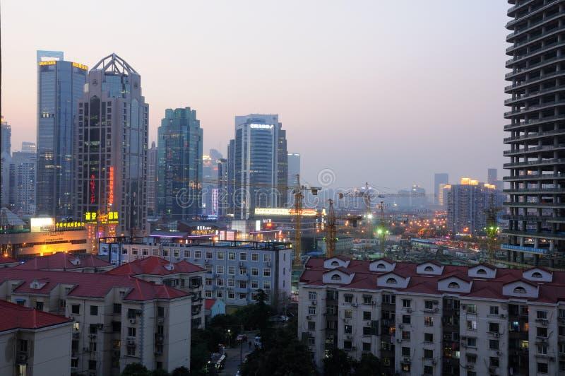 pudong上海地平线 库存图片