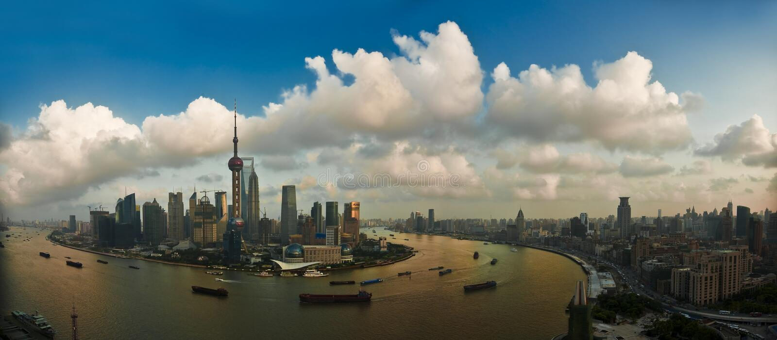 Pudong and the Bund stock photography