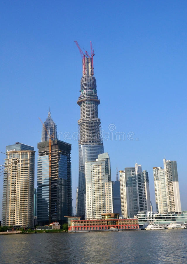 Pudong landmark stock photos
