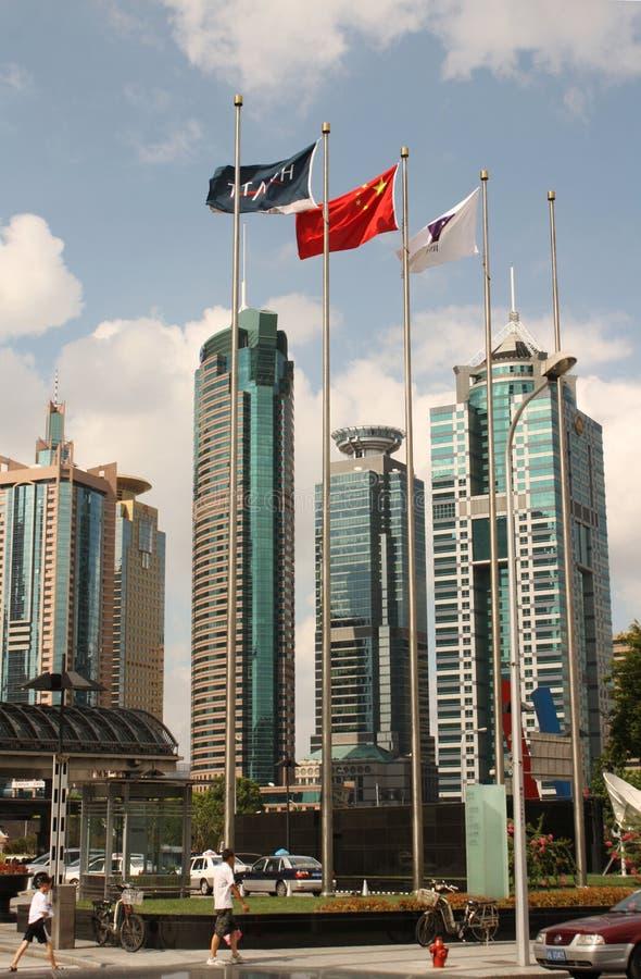 pudong shanghai центра финансовохозяйственное стоковое фото