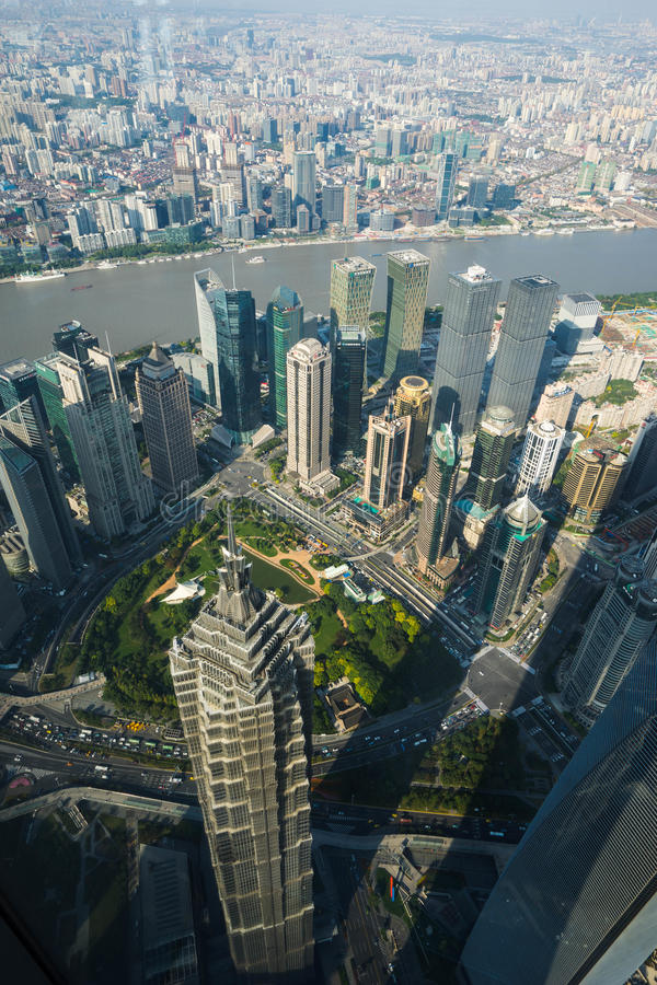 pudong shanghai arkivbilder