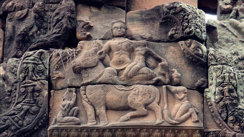 Pueainoi van kasteelpueai Noi/Ku bij khon-Kaen stock afbeelding