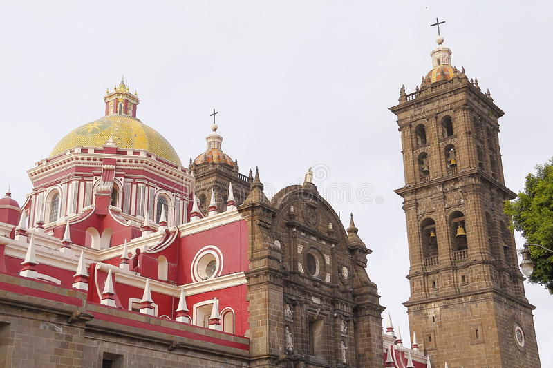 Puebla cathedral I royalty free stock image