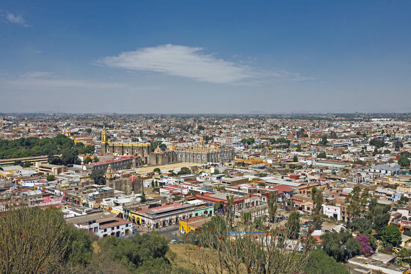 Puebla City view, Mexico. Puebla City view from Cholula (Mexico stock images