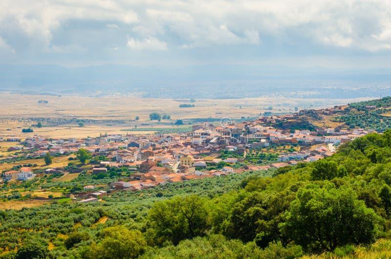 Puebla de Alcocer w prowinci Badajoz, obrazy stock