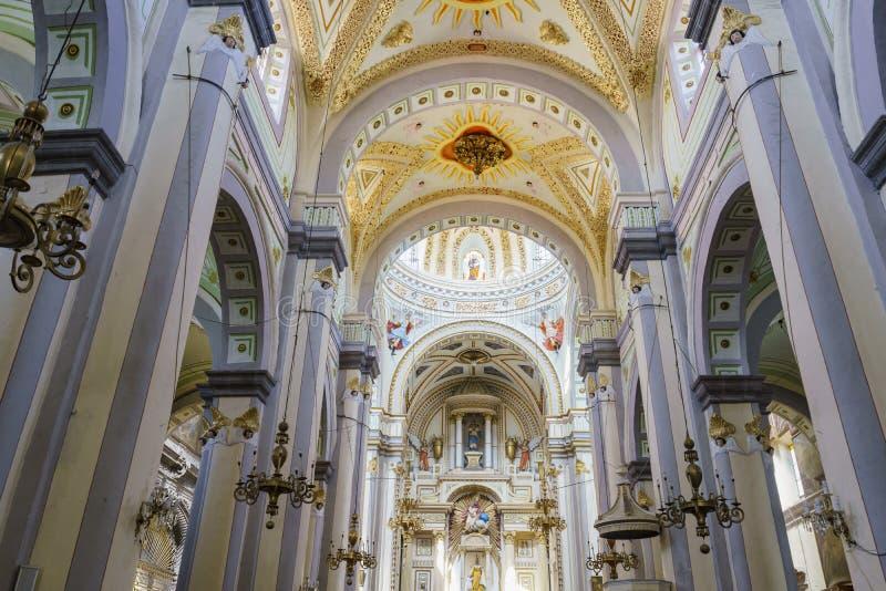 Interior view of the Chapel of Jesus Nazareno (Parroquia De Nuestro Senor San Jose) stock photography