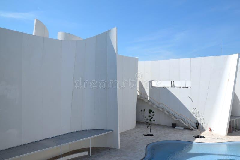 Puebla, listopad 6, 2016: Powierzchowność Puebla baroku muzeum zdjęcie royalty free