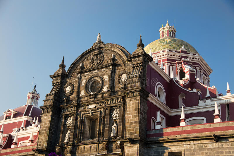 Puebla, Mexico. The charming cathedral at Puebla, Mexico royalty free stock photography