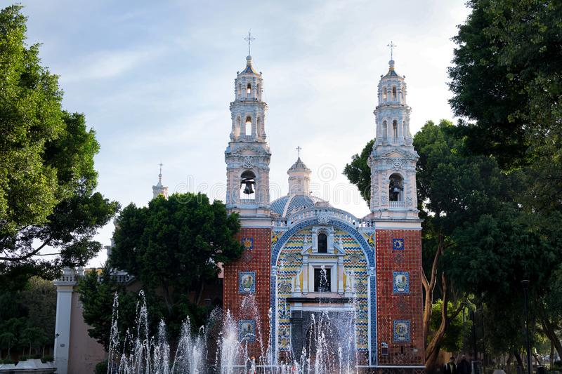 Puebla, Mexico Church. A beautiful old historic church in the colonial city of Puebla, Mexico royalty free stock photography