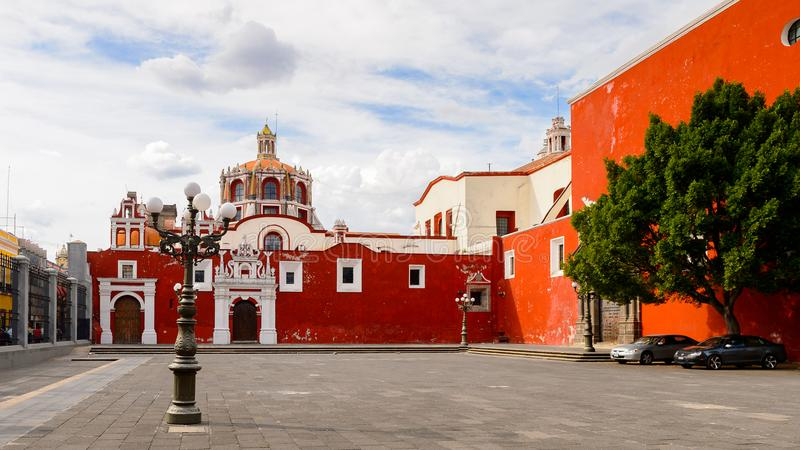 Architecture of Puebla, Mexico royalty free stock images