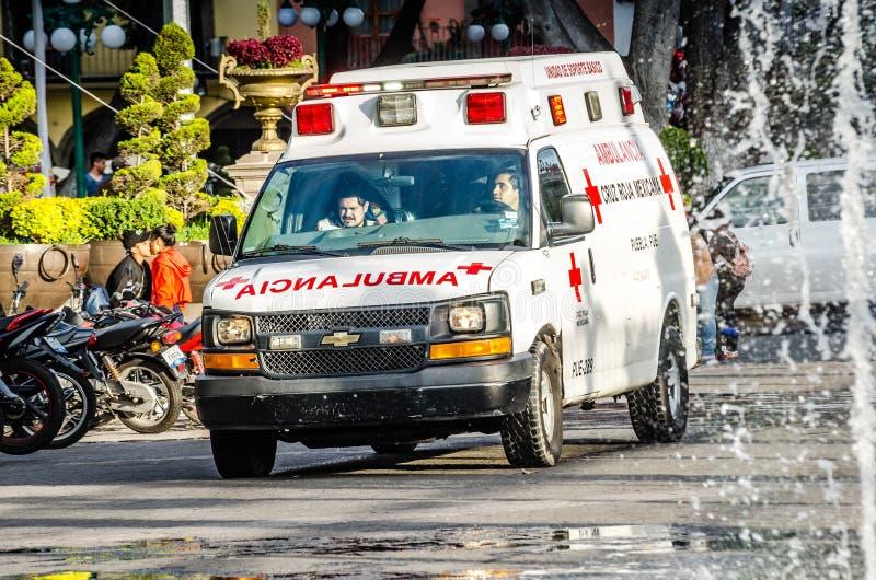 Puebla, Mexique - 31 octobre 2018 V?hicule d'ambulance photo libre de droits