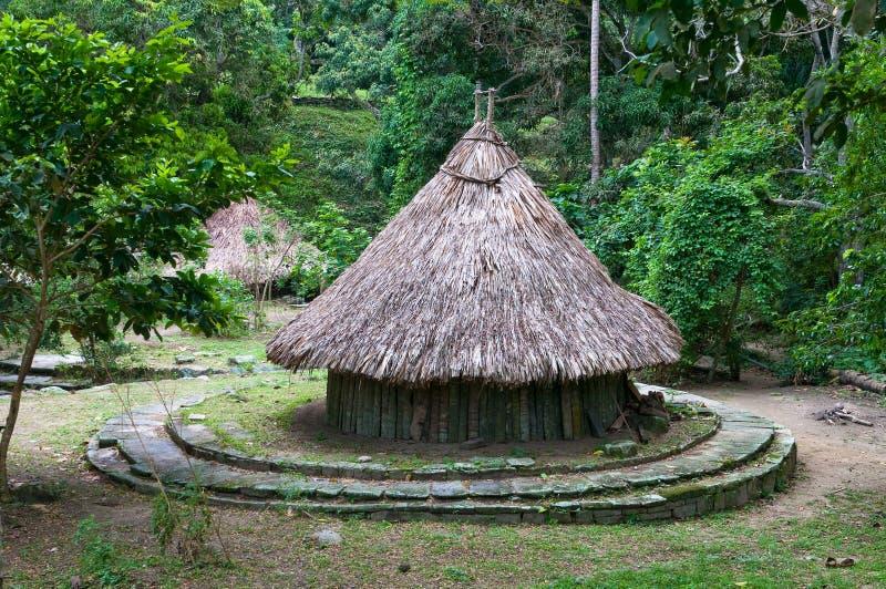 Pueblito archäologische Fundstätte, Tayrona Nationalpark lizenzfreie stockbilder