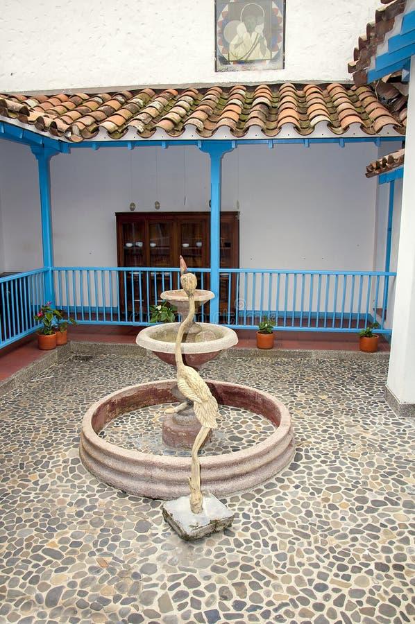 从Pueblito Paisa的内部图象 图库摄影