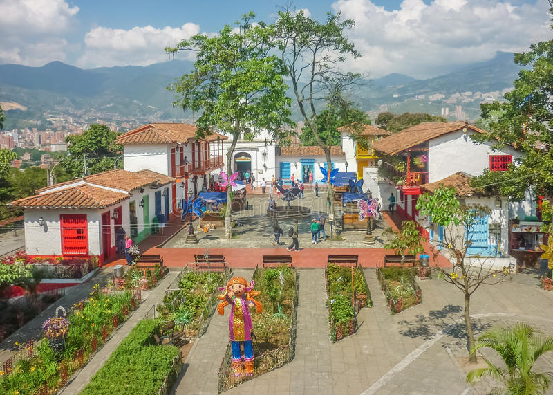 Pueblito Paisa Medellin Colombia royalty-vrije stock afbeeldingen