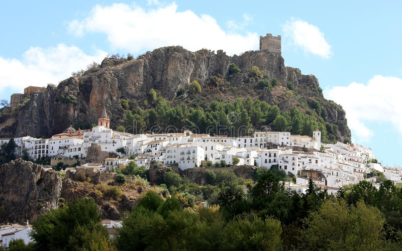pueblo Ισπανία blanco της Ανδαλουσίας στοκ εικόνα με δικαίωμα ελεύθερης χρήσης