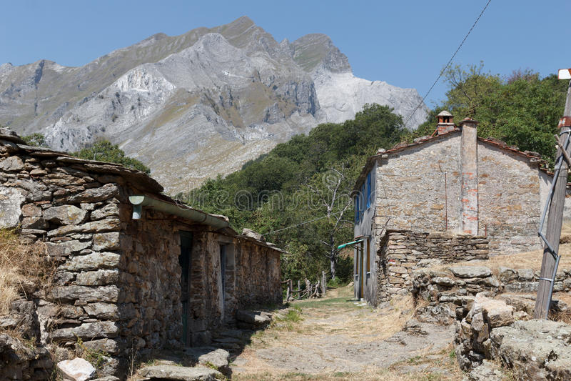 Pueblo abandonado Vergheto fotografía de archivo