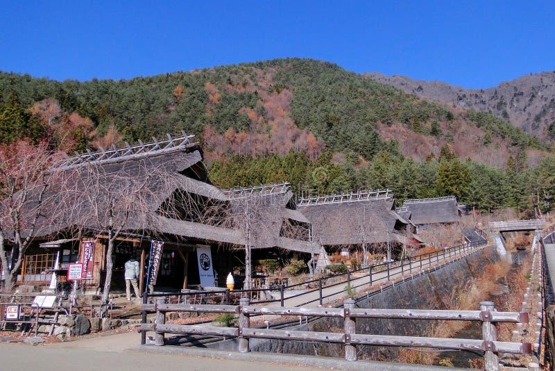 Pueblo antiguo cerca del lago Kawaguchigo imagen de archivo