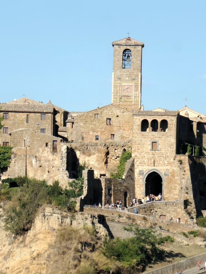Pueblo antiguo de Civita di bagnoregio foto de archivo libre de regalías