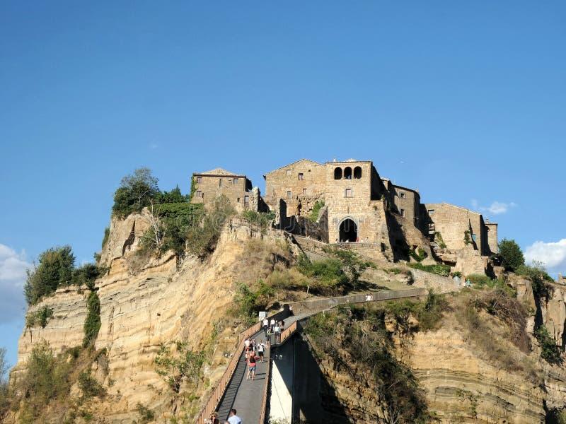 Pueblo antiguo de Civita di bagnoregio fotografía de archivo libre de regalías
