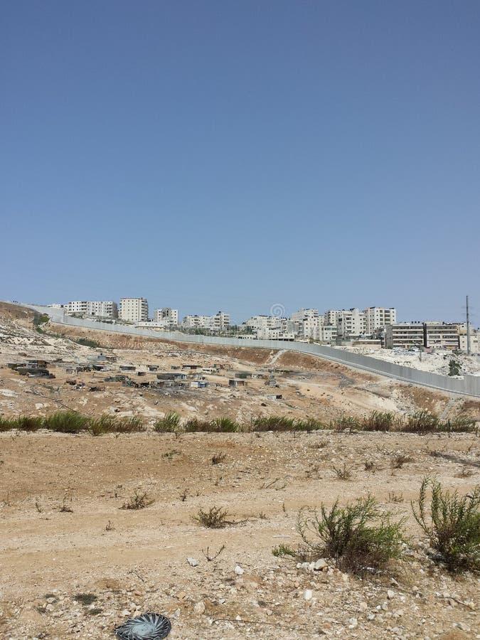 Pueblo beduino condenado para la destrucción fotografía de archivo