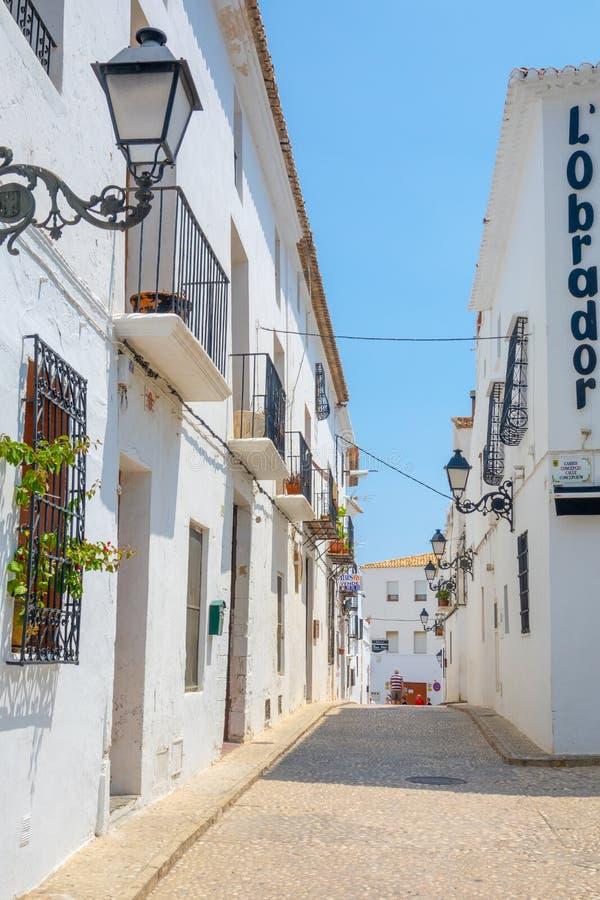Pueblo blanco encantador Altea en Costa Blanca Spain fotos de archivo libres de regalías
