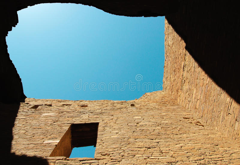Pueblo Bonito ruins stock photos