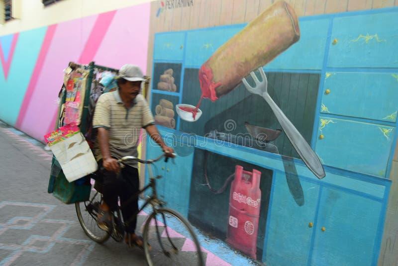 Pueblo brillante del gas en la ciudad de Semarang fotos de archivo