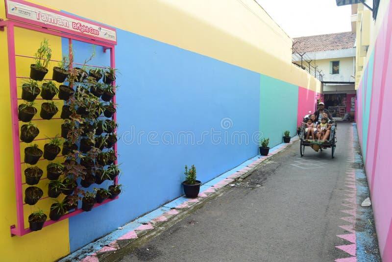 Pueblo brillante del gas en la ciudad de Semarang foto de archivo libre de regalías