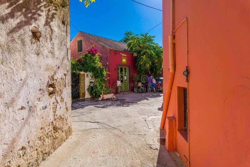 Pueblo colorido de Fiskardo en Kefalonia Grecia fotografía de archivo libre de regalías