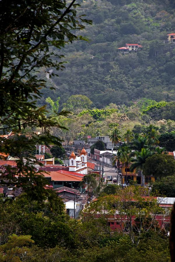Pueblo of Copán Ruinas. The little village of Copán Ruinas, a short walk from the actual Mayan ruins site. A very picturesque and clean little town, and royalty free stock images