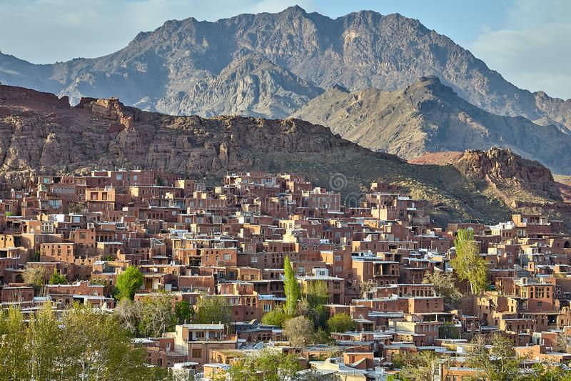Pueblo de Abyaneh, condado de Natanz, central Irán de la provincia de Isfahán fotos de archivo