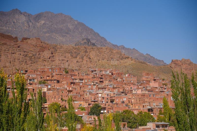 Pueblo de Abyaneh en la provincia de Isfahán, Irán fotos de archivo