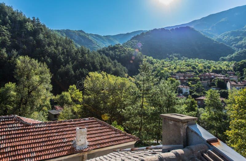 Pueblo de Bachkovo, Bulgaria fotografía de archivo