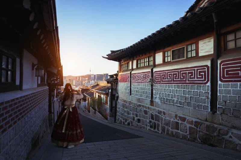 Pueblo de Bukchon Hanok imagenes de archivo