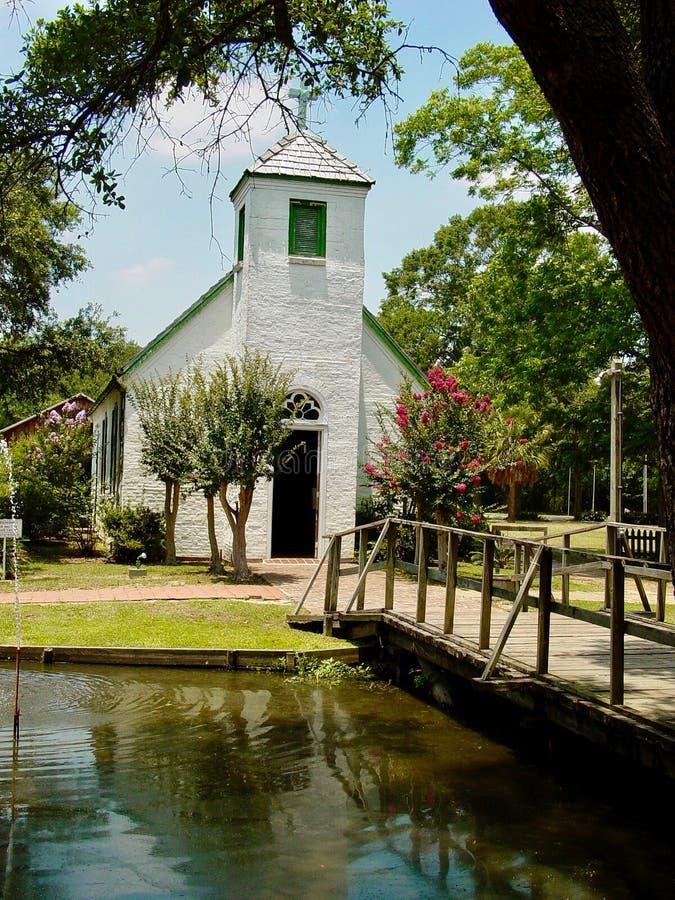 Pueblo de Cajun cerca de Lafayette, Luisiana fotos de archivo libres de regalías