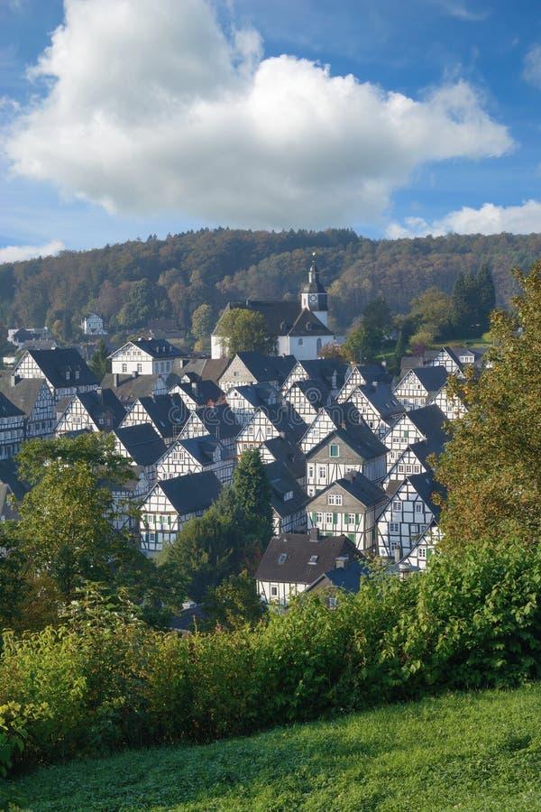 Pueblo de Freudenberg, Siegerland, Sauerland, Alemania imagen de archivo