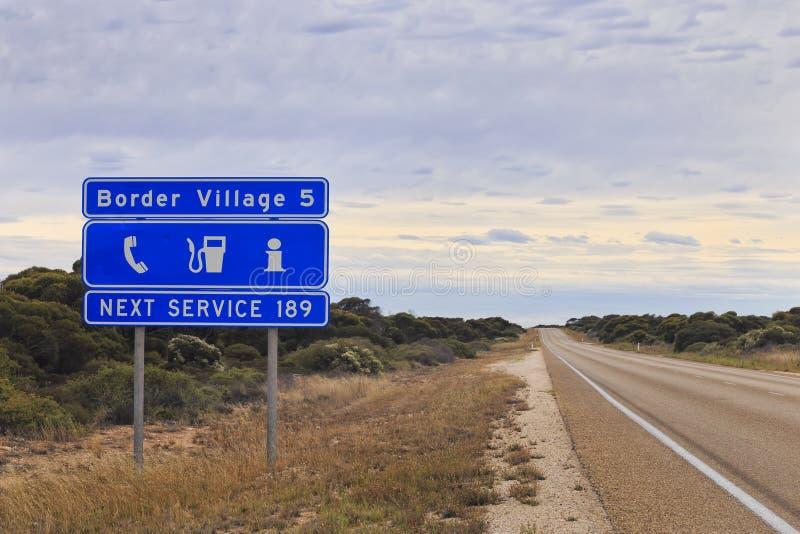 Pueblo de frontera de WA Roadsign imágenes de archivo libres de regalías