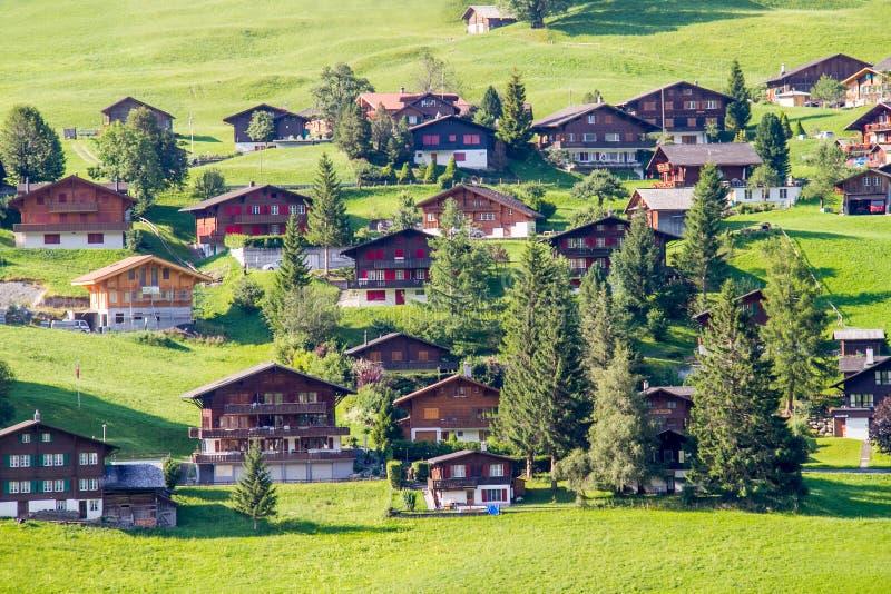 Pueblo de Grindelwald imagen de archivo