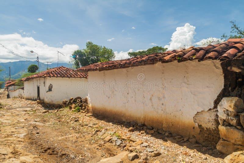 Pueblo de Guane, Colombia imágenes de archivo libres de regalías