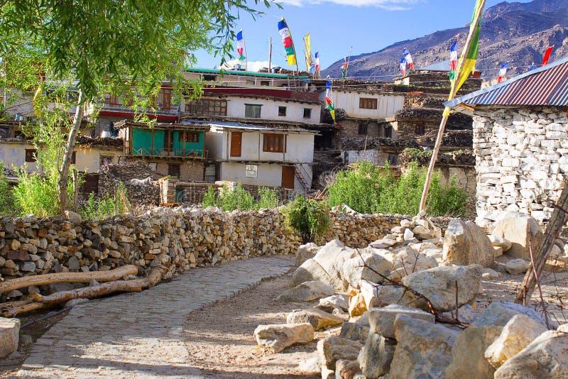 Pueblo de Gue, Spiti, Shimla imagenes de archivo