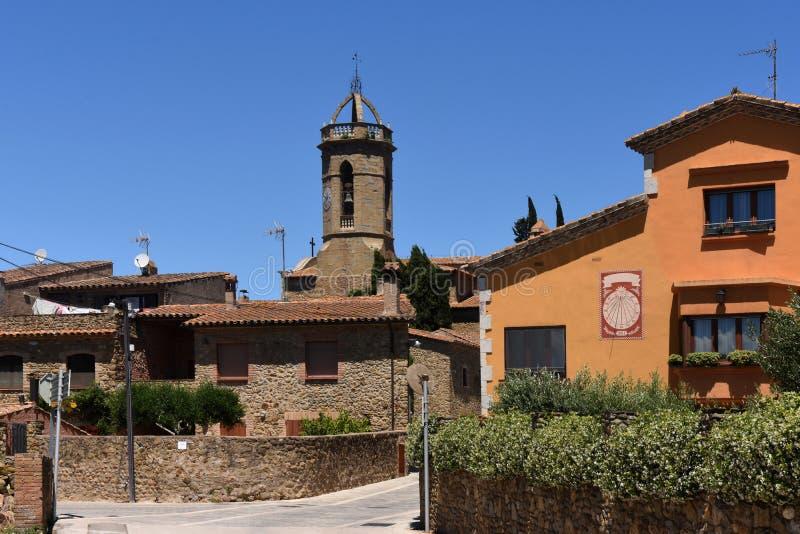 Pueblo de Jafre Baix Emporda, provincia de Girona, foto de archivo
