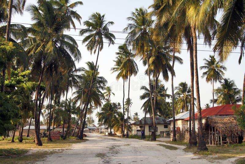 Pueblo de Jambiani en Zanzíbar imagenes de archivo