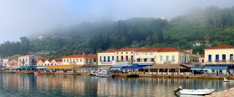 Pueblo de Katakolo, Grecia foto de archivo libre de regalías